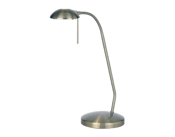Endon Hackney Touch Dimmer Desk Lamp, Antique Brass Finish - 656-TLAN
