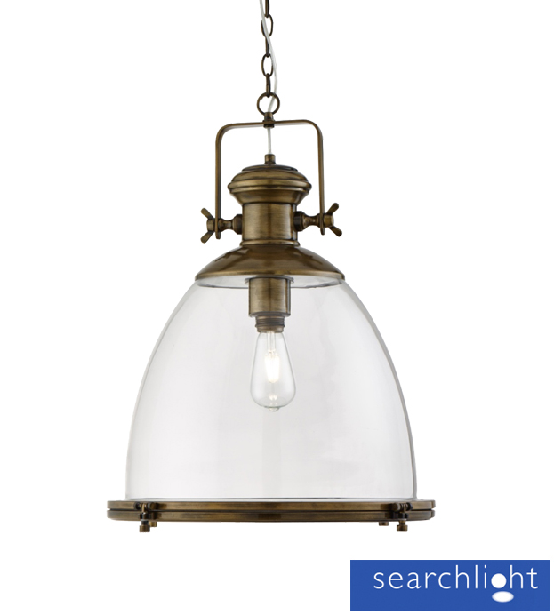light ceiling pendant light antique brass with clear glass shade