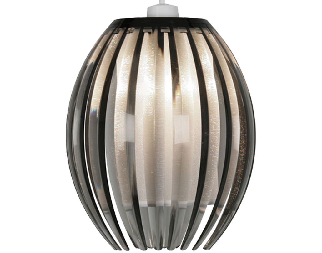 Oaks Lighting 'Shimna' Small Non-Electric Ceiling Pendant, Smoked - 669 S SM
