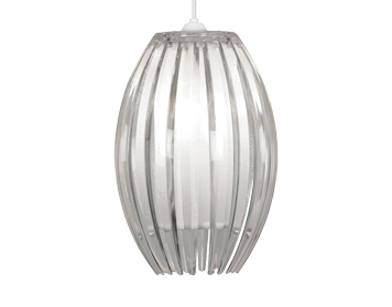 Oaks Lighting Shimna Small Non-Electric Ceiling Pendant, Clear Finish - 669 S CL