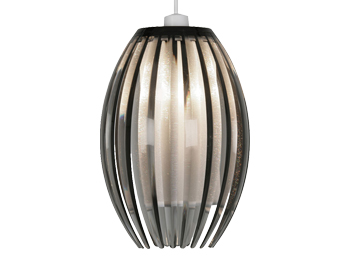 Oaks Lighting Shimna Small Non-Electric Ceiling Pendant, Smoked Finish - 669 S SM