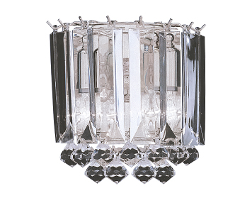 Searchlight Sigma 2 Light Wall Light, Chrome Finish With Clear Acrylic Prisms - 6711-2CC