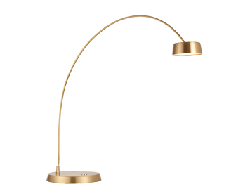 Endon Finch LED Touch Table Lamp, Brushed Gold & Frosted Acrylic Finish - 67615