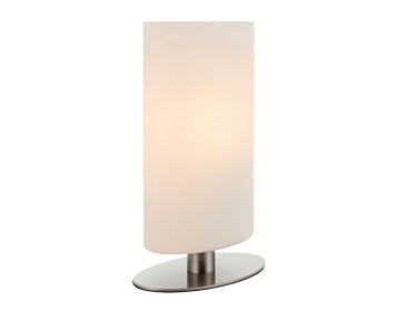 Endon Palmer Touch Table Lamp, Satin Nickel Finish With Matt Opal Duplex Glass - 68492