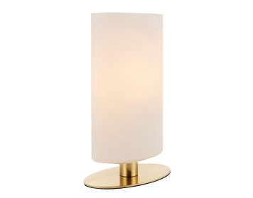 Endon Palmer Touch Table Lamp, Brushed Gold Finish With Matt Opal Duplex Glass - 68846