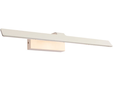 Endon 'Sartre' 1 Light 18w LED Picture Light, Matt White & Clear Acrylic - 68963