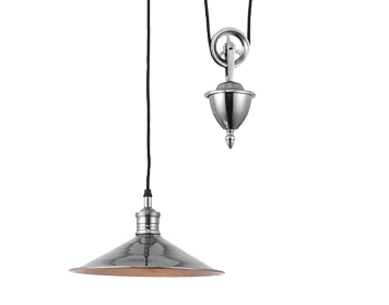 Endon Victoria 1 Light Rise & Fall Ceiling Pendant, Antique Silver Finish - 69839