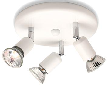 Firstlight Runner 3 Light Flush Ceiling Spotlight White