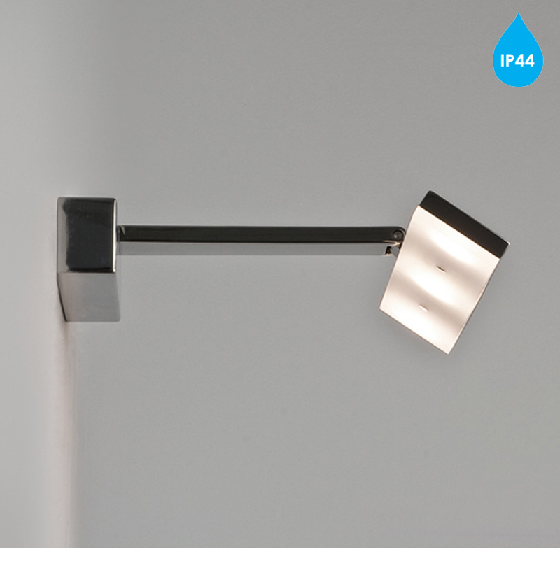 Low Energy Bathroom Wall Lights : Astro Zip IP44 LED Low Energy Bathroom Wall Light, Polished Chrome - 7009 from Easy Lighting