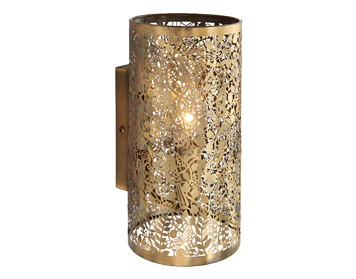 Endon Secret Garden 1 Light Wall Light, Antique Brass Finish - 70105