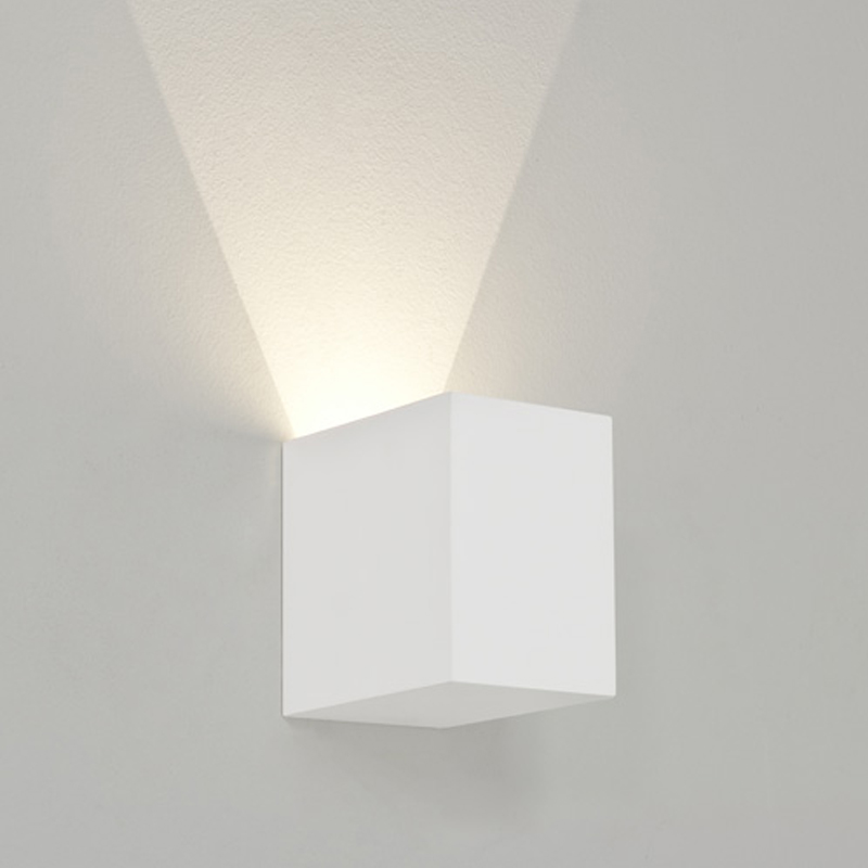 Astro 'Parma 100' LED IP20 3000k Wall Light, White Finish - 7019