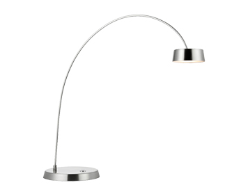Endon Finch LED Touch Table Lamp, Brushed Nickel & Frosted Acrylic Finish - 70202