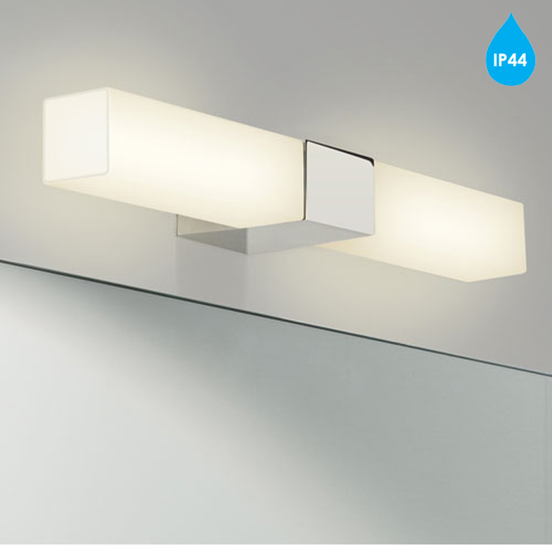 Square Chrome Wall Lights : Astro Padova Square IP44 Bathroom Wall Light, Polished Chrome - 7028 from Easy Lighting