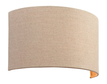 Endon Obi 1 Light Wall Light, Natural Linen Finish - 70335