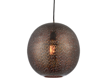 Endon Abu 1 Light Ceiling Pendant, Antique Pewter Finish - 70390