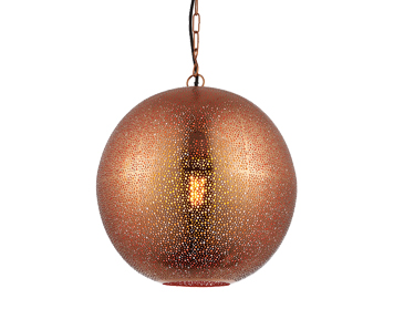 Endon Abu 1 Light Ceiling Pendant, Copper Finish - 70391