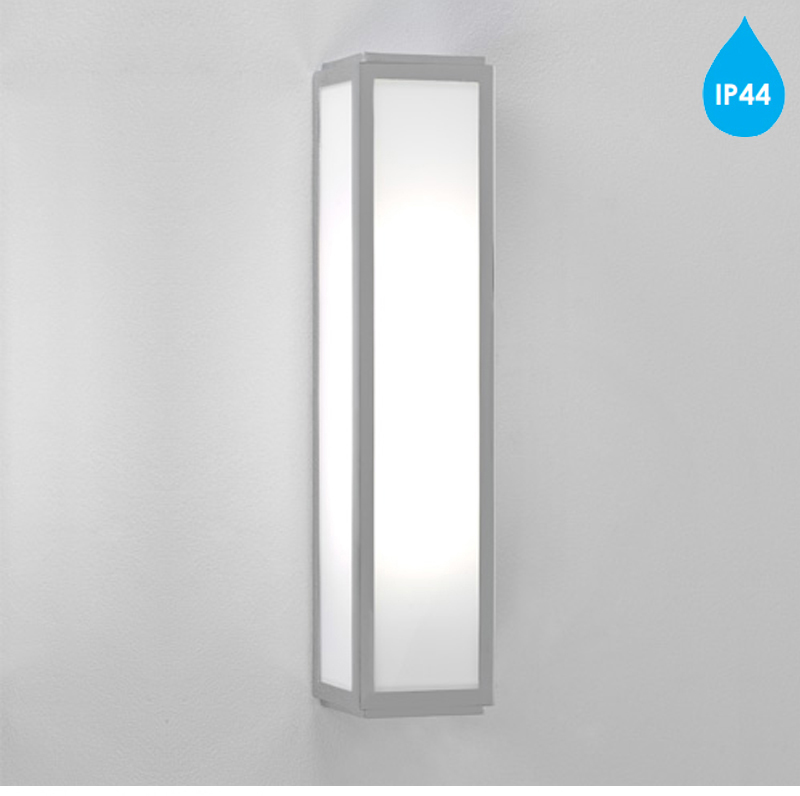 Silver Crystal Wall Lights : Astro Mashiko 360 IP44 Bathroom Wall Light, Painted Silver - 7043 from Easy Lighting