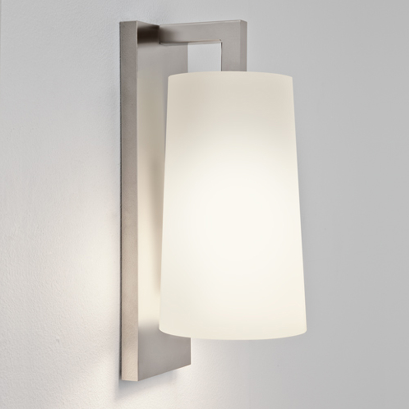Bathroom wall lights from easy lighting astro lago 280 ip44 single wall light matt nickel 7059 mozeypictures Images