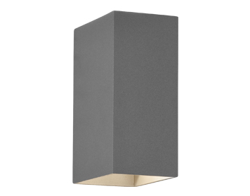 Astro Oslo 160 Bathroom Up & Down Wall Light, Textured Painted Silver Finish - 7060