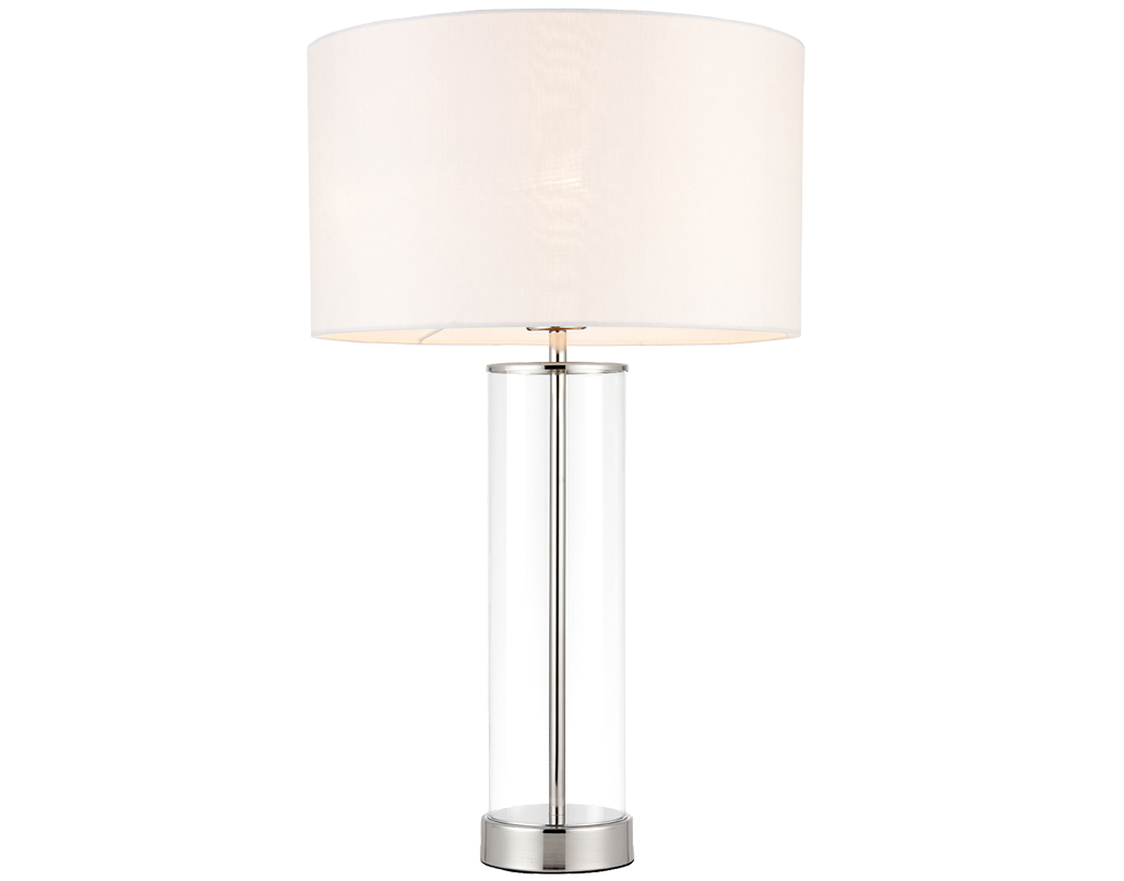 Crystal and glass table lamps from easy lighting endon lessina 1 light touch table lamp vintage white faux silk bright geotapseo Gallery