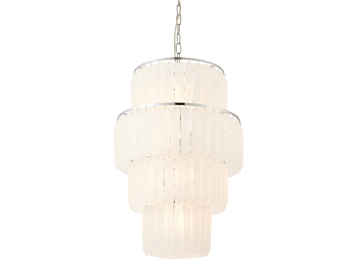 Endon Selina 10 Light Ceiling Pendant Light, Chrome Plate Finish With Frosted Glass - 70669