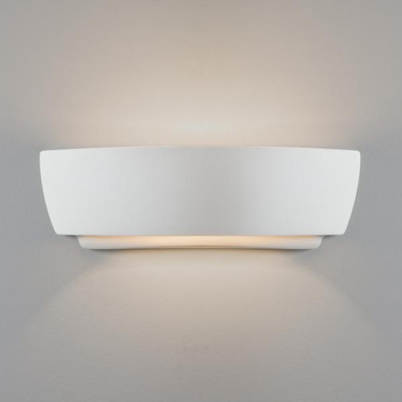 Paintable Unglazed Ceramic And Plaster Wall lights from Easy Lighting