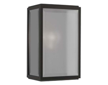 Astro Homefield Outdoor Flush Wall Light, Matt Black Finish - 7081