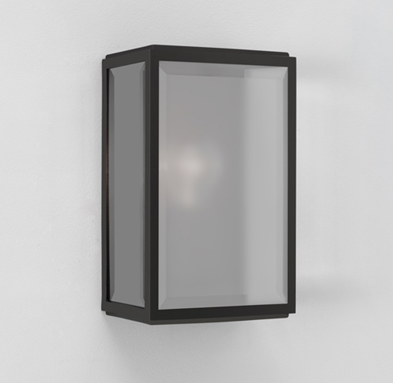 Painted Glass Wall Lights : Astro Homefield IP44 Outdoor Flush Wall Light, Painted Black Finish & Frosted Glass - 7081 ...
