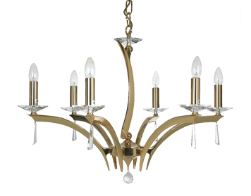 Oaks Lighting Premier Collection Wroxton 6 Light Ceiling Light, Polished Gold Finish - 708/6 GO