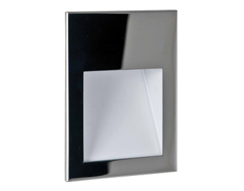 Astro Borgo 90 Recessed LED Wall Light, Polished Stainless Steel Finish - 7088