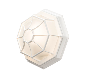 Konstsmide 1 Light Wall / Porch Ceiling Light, White Finish With Opal Glass Panels - 7091-250