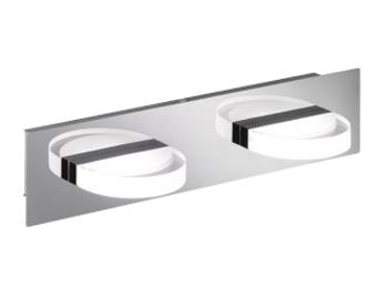 Wofi Estera 2 Light LED Ceiling Light, Chrome - 7093.02.01.0000