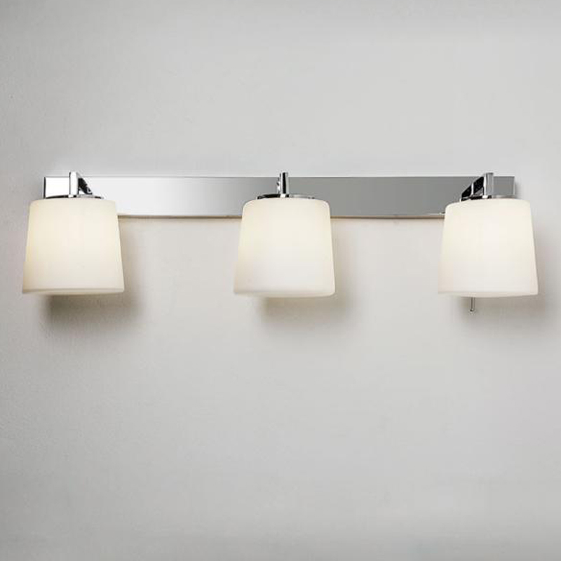 Astro U0027Triplexu0027 IP44 3 Light Bathroom Wall Light, Polished Chrome   7093