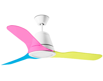 Leds C4 'Tiga' Multicolour Acrylic Blades For Tiga Ceiling Fan - 71-4867-CV-CV