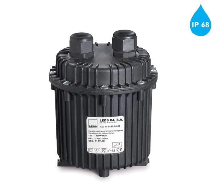 leds c4 ip68 outdoor waterproof 12v transformer black 71 9197 05