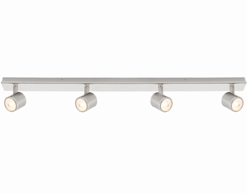 Endon Oracle 4 Light Bar Spotlight, Bright & Brushed Nickel Plate - 71050