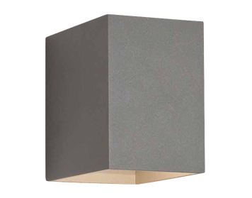 Astro Oslo 100 Wall Light, Textured Painted Silver Finish - 7108