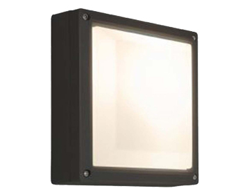 Astro Arta 210 Square Outdoor Wall Light, Textured Black Finish With Opal Polycarbonate Diffuser - 7120