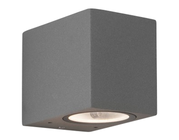 Astro Chios 80 Outdoor Wall Light, Textured Painted Silver Finish - SALE-7125