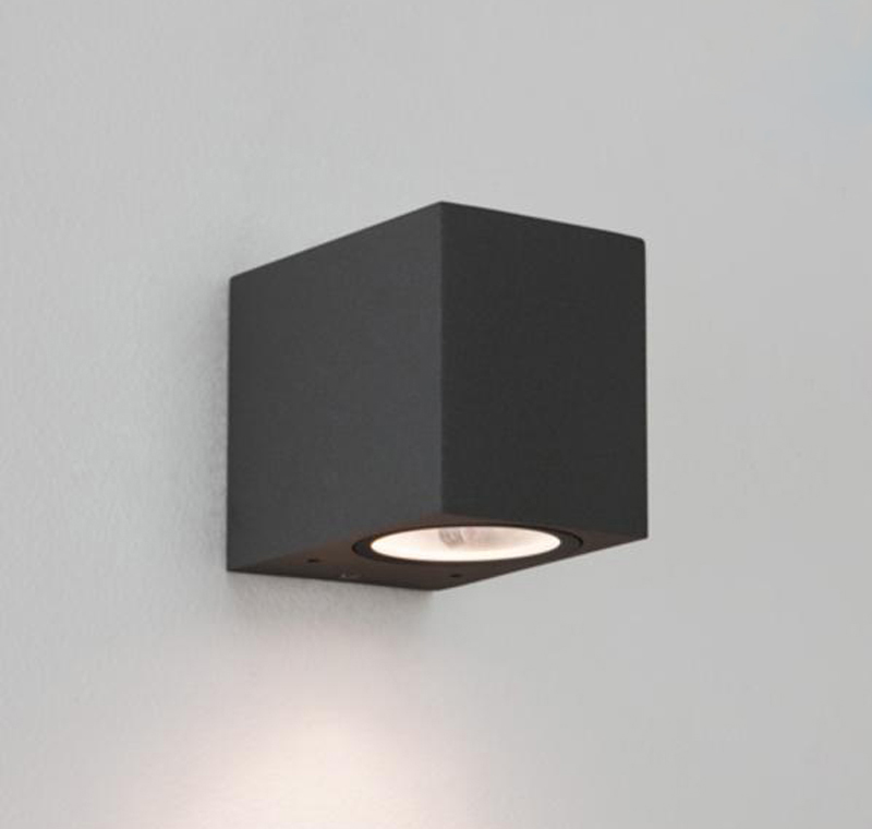 Simple Black Wall Lights : Astro Chios 80 IP44 Outdoor Wall Light, Black - 7126 from Easy Lighting