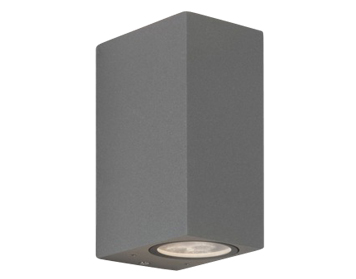 Astro Chios 150 Outdoor Double Wall Light, Textured Painted Silver Finish - 7127