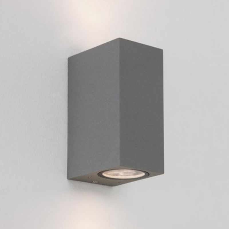 Astro chios 150 ip44 up down double wall light black 7128 astro chios 150 ip44 outdoor double wall light painted silver 7127 aloadofball Gallery