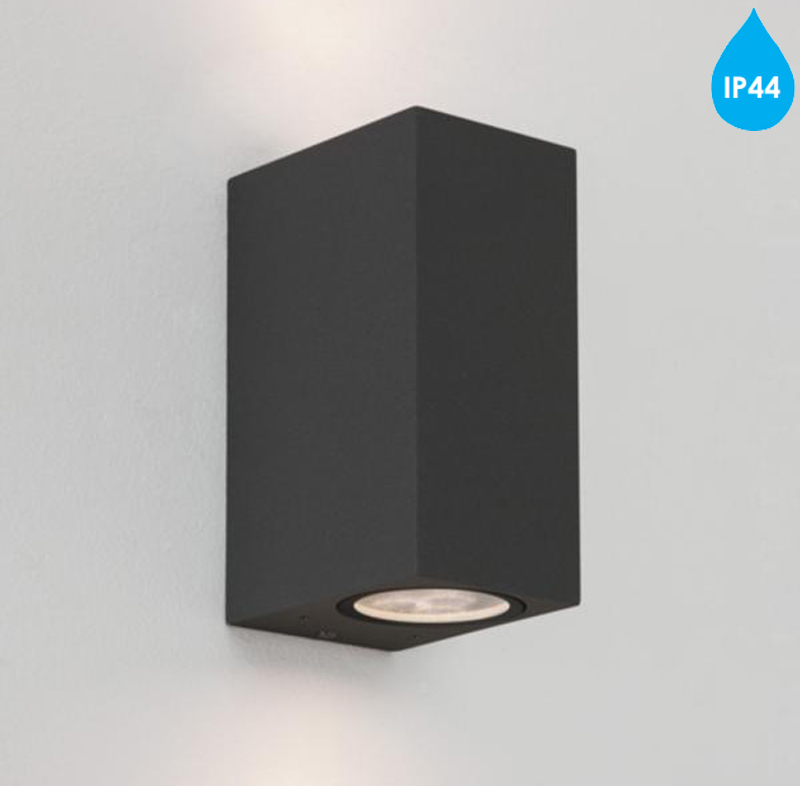 Astro Chios 150 IP44 Up & Down Double Wall Light, Black - 7128 from Easy Lighting