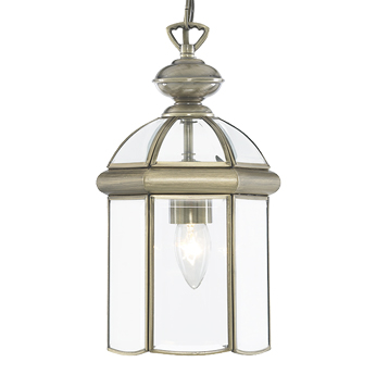 Searchlight Hall Ceiling Lantern, Antique Brass Finish - 7131AB