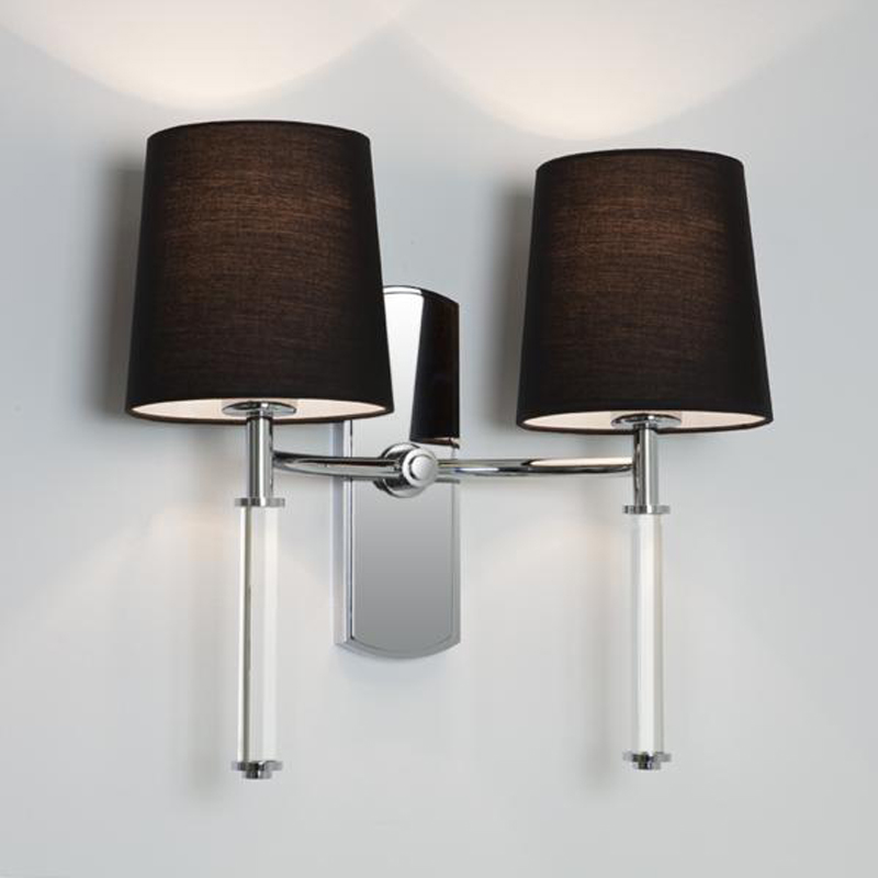 Astro 'Delphi Twin' IP20 Interior Wall Light, Polished Chrome - 7135