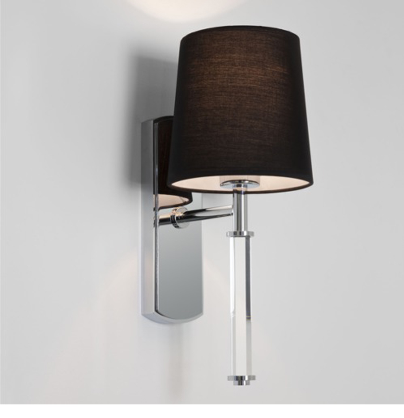 Brushed Chrome Indoor Wall Lights : Astro Delphi Single IP20 Interior Wall Light, Polished Chrome - 7136 from Easy Lighting