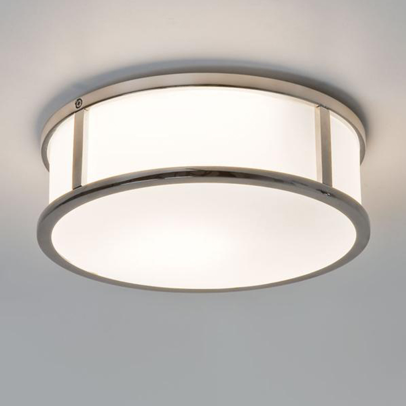 Astro mashiko round 230 ip44 bathroom ceiling light polished chrome 7179