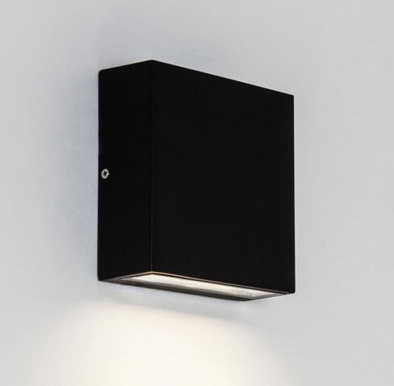 Astro elis single ip54 led outdoor wall light black 7201 none