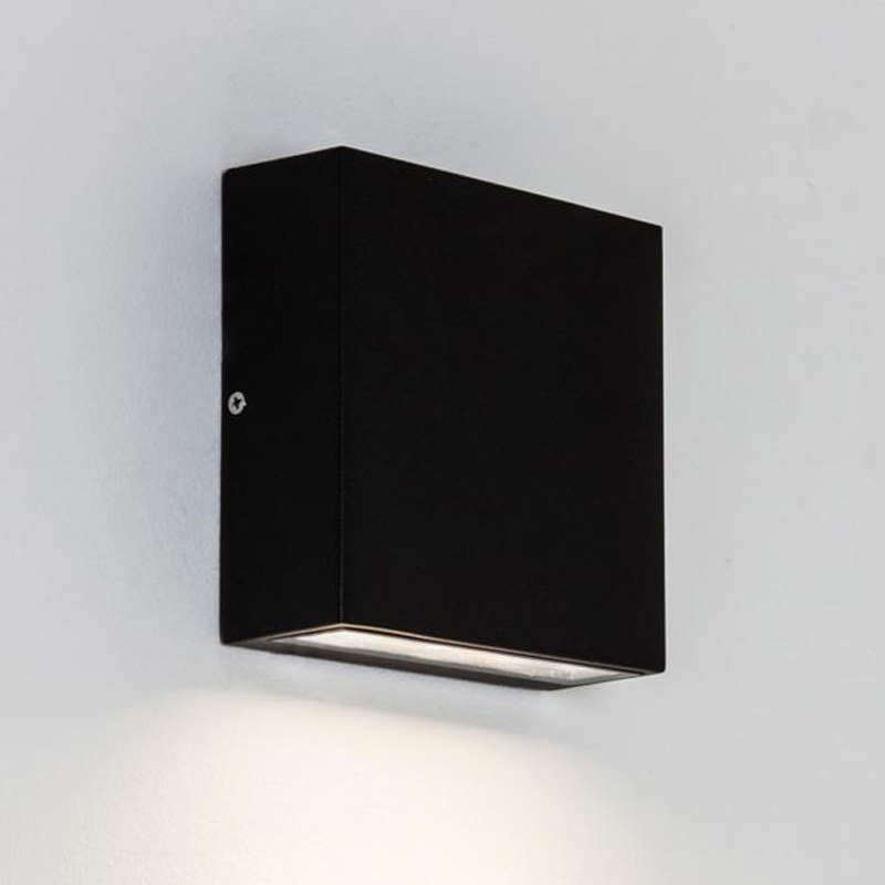 astro 39 elis twin 39 ip54 led outdoor wall up down light black 7202 from easy lighting. Black Bedroom Furniture Sets. Home Design Ideas