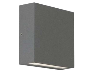 Astro Elis Twin LED Outdoor Up & Down Wall Light, Textured Painted Silver Finish - 7204